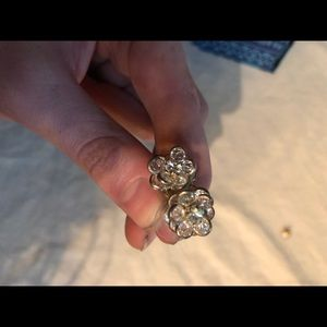 Anthropologie flower studs